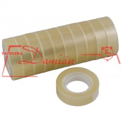 Cinta scotch chica adhesiva Polipropileno Pilcotape 12mm x 30mt